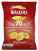 Walkers Crisps Ready Salted 32 x 32.5gm